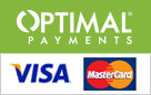 Powered by Optimal Payments Visa Mastercard